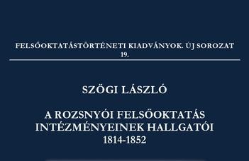 Megjelent kutatócsoportunk új kiadványa a rozsnyói felsőoktatás hallgatóiról